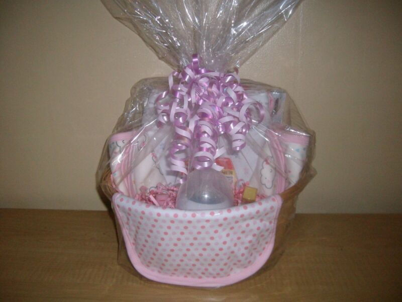 Baby Girl Swaddle Pod Baby Shower Gift Basket or Centerpiece