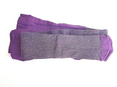 Girls Purple Sparkley Tights, age 5-6 - Sparkley Tights