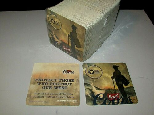 NEW 125 Coors Banquet Firefighters Protect Those Who Protect Bar beer Coaster