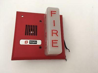 Vintage Rare Simplex Gx90s-4 Fire Alarm Mini Hornstrobe Gentex