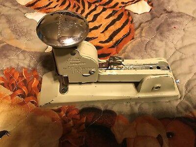 Swingline Vintage Heavy Duty Stapler 13 Gray Industrial Chrome Push Button0223