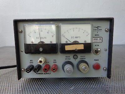 Trygon Electronics Hr40-5b Dc Power Supply 0-40v 5a