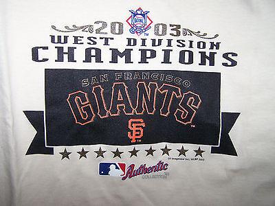 NWT 2003 SF Giants MLB West Division Champions White Mens Sz XXL 2XL HTF