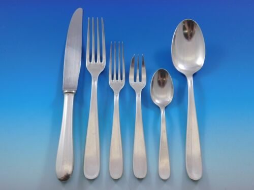 Dax by Christofle France Silverplated Flatware Set Service 42 pieces