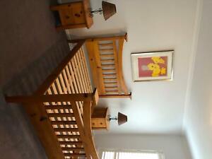 Timber Queen Bedroom Suite (price is negotiable)