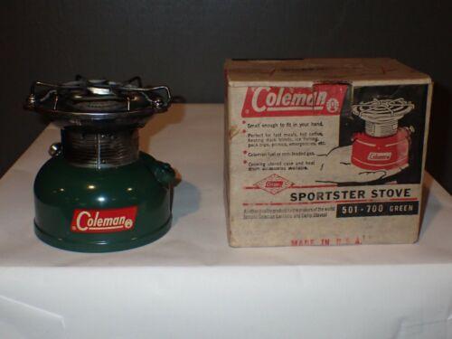 Vintage Coleman 501 Sportster Stove CampStove 6/62 1962 in Original Box