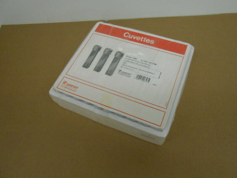 SARSTEDT 67.749 CUVETTE 55mm ROUND OPENING 100/Cs