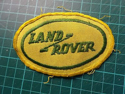 LAND ROVER Original Cloth Sew On Badge From The 1970's