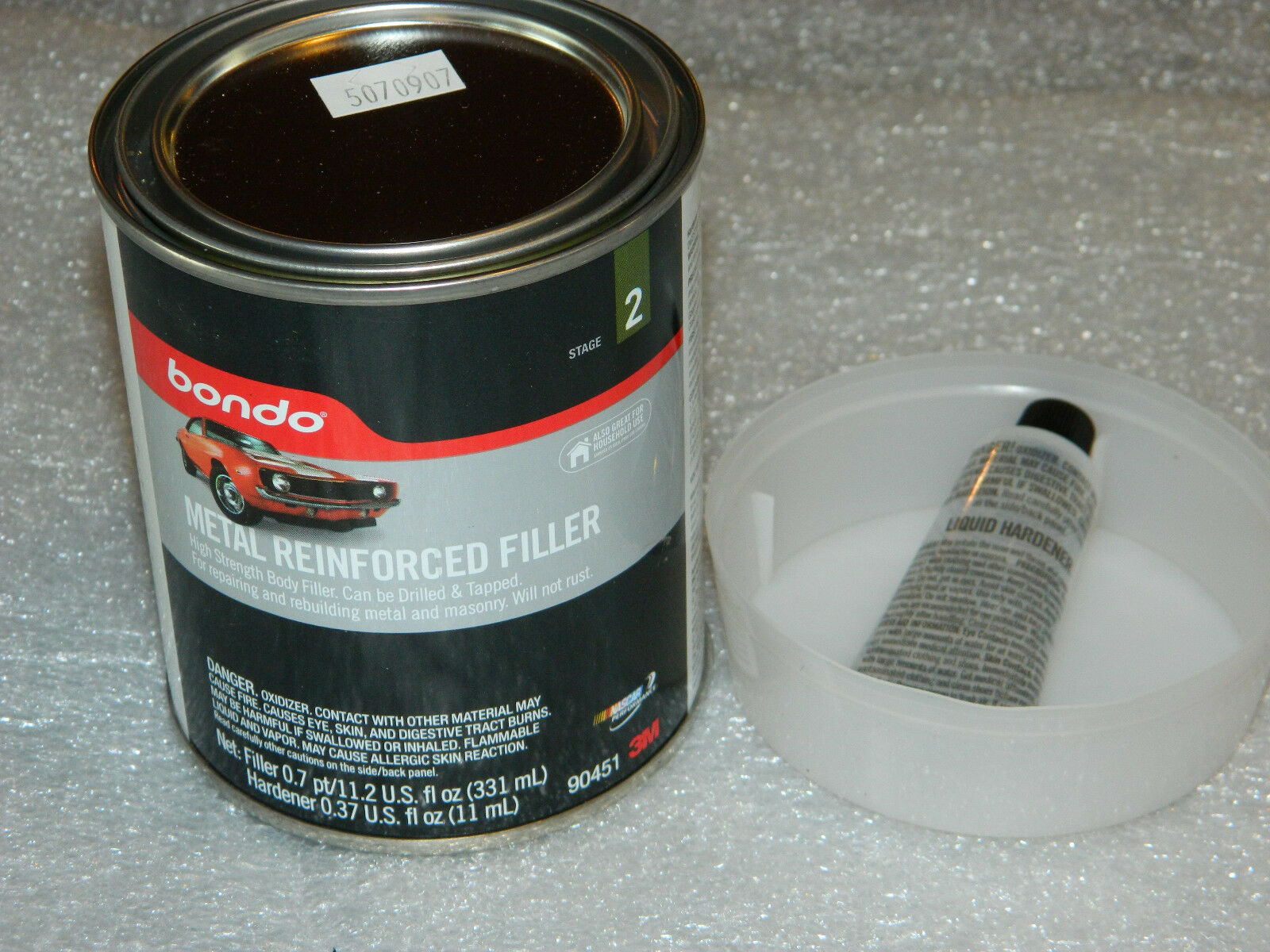 bondo autobody As with auto body filler, the goo in the can is composed of a liquid resin combined with powdered fillers to create a puttylike material as with body filler, the two components tend to separate with storage so it pays to stir the can before use.