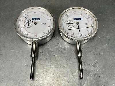 2 Fowler 0-1 Dial Indicators .001 Resolution