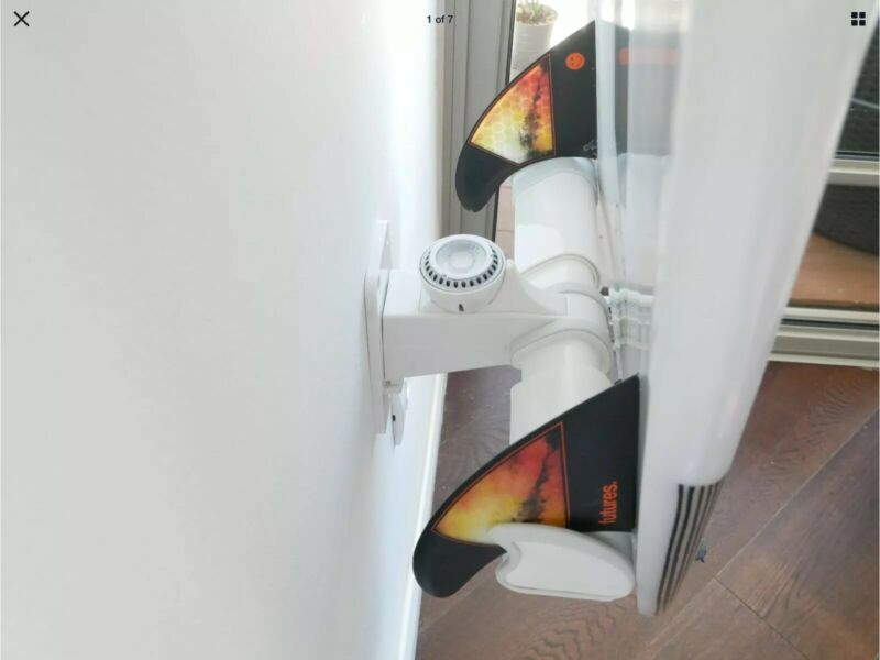 White Ignited Led Light Air Surf Rack for Surfboards Wall Rack