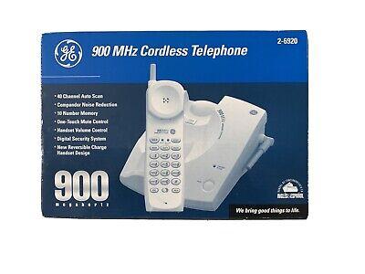 NEW IN BOX GE 900 MHz Single Line Cordless Phone 2-6920 White  900 Mhz Cordless Phones