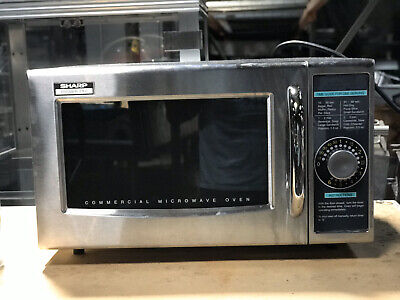 Sharp R-21lcf Commercial Microwave Dial Timer 1000-watts 120-volts
