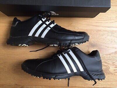 Mens Adidas Golf Shoes. Black. Size UK 10.