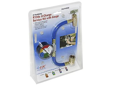 R-134A RECHARGE MEASURING KIT A/C CONDITIONING GAUGE SYSTEM HOSE ITM 01436