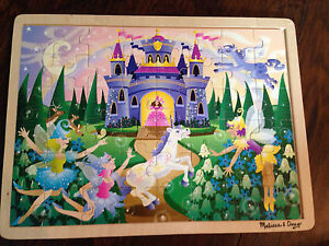 Fairy castle wooden puzzle