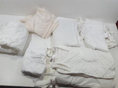 American Baby Company Heavenly Soft 6 Piece Crib Rail Bedding Set, White
