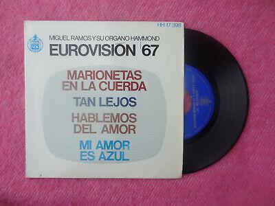 """7"""" MIGUEL RAMOS Y SU ORGANO HAMMOND Marionetas en la cuerda +3 HH 17-398 (NM/NM) segunda mano  Embacar hacia Mexico"""