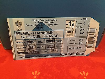 Football Ticket -  UEFA - Belgique Urbsfa - France - 2004