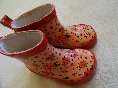 Marienkäfer Stiefel (Gummistiefel Marienkäfer rosa  G.20 Playshoes sehr niedlich Regenstiefel)