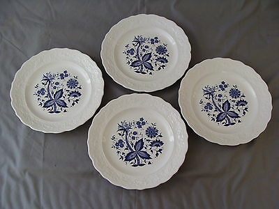 "4 Rare Vintage ""Blue Onion"" Design Dinner Plates on Rummage"