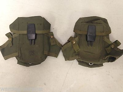 Lot Of 2 Us Military Army Usmc Ammo Case 30 Round M16 Rifle Lc1 Alice Mag Pouch