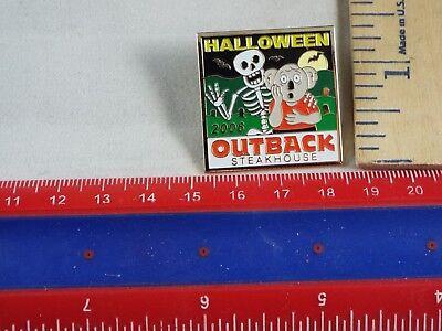 OUTBACK STEAKHOUSE PIN HALLOWEEN 2006 SKELETON](Outback Halloween)