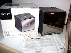 Sony ICF-C1T Dual Alarm Clock AM/FM Radio Black icfc1t