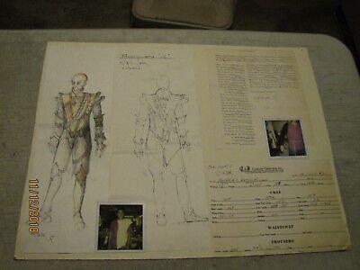 BABYLON 5 G'KAR Costume Artwork. Production Used Prop