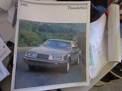 1985 thunderbird brochure