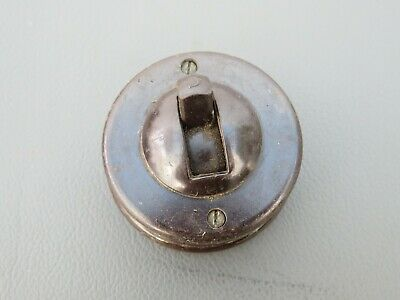 Vintage Crabtree bakelite & vitreous single switch toggle light switch