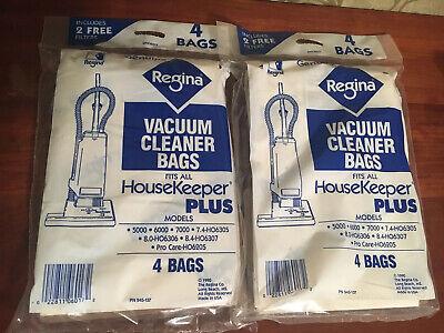 8 Genuine Regina DH06017 Type P Upright Vacuum Bags with Filters Regina Vacuum Bags