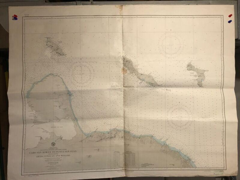 Caribbean Sea Navigational Chart / Hydrographic Map # 6570 South America Islands