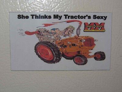 Minneapolis Moline She Thinks My Tractors Sexy 1 Fridgetool Box Magnet
