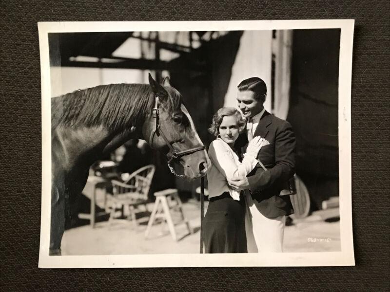 Clark Gable. -  Original 1931.   Movie Production Photo - Sporting Blood