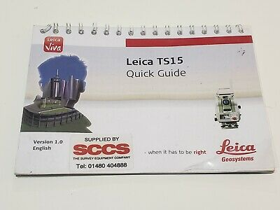 Leica Ts15 Quick Guide Version 1.0 English