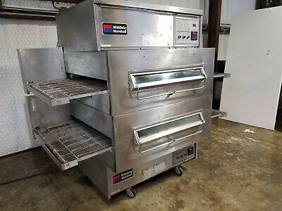 Middleby Marshall Ps360wb Dbl. Stack Nat. Gas Conveyor Pizza Ovens...video Demo