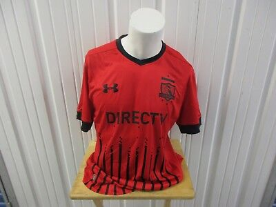 UNDER ARMOUR COLO-COLO CLUB SOCIAL RED XL FITTED 2016-17 THIRD JERSEY KIT  NWT image