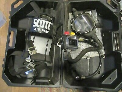 Scott Aviation Air Pressure-pak Ii Scba Rescue Air Supply Backpack Harness Mask
