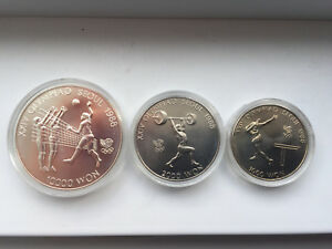 Seoul 1988 Olympic Games 3 coins