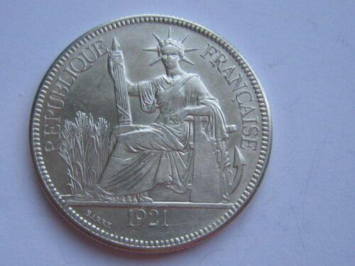 1921 FRENCH INDOCHINA Silver Coin