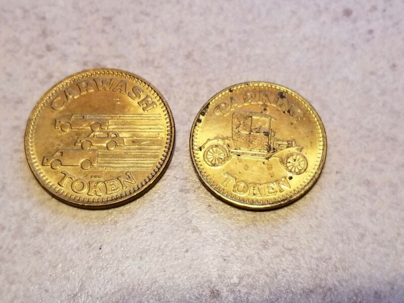 VINTAGE CAR PARKING & WASH TOKEN COIN NO CASH VALUE 1 LOT