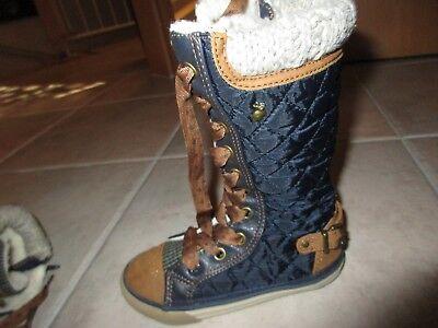 NEXT Mädchen Herbst Winter Chucks Sneaker Stiefel marine gefüttert 25,5 UK 8 TOP