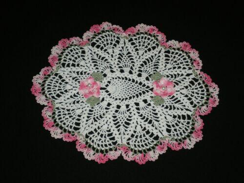 New Handmade Doily Crocheted Flowers