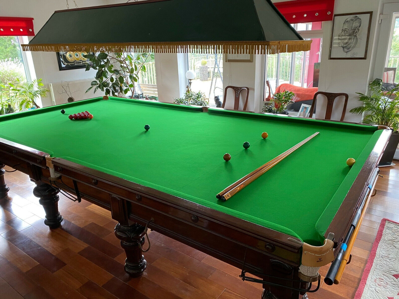 RILEY SNOOKER TABLE , VICTORIAN FULL MATCH SIZE 12ft x 6ft