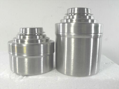 2 NIKOR Stainless Steel Film Developing Outfit Tanks 1 w/1 35mm Reel 1 w/2 reels