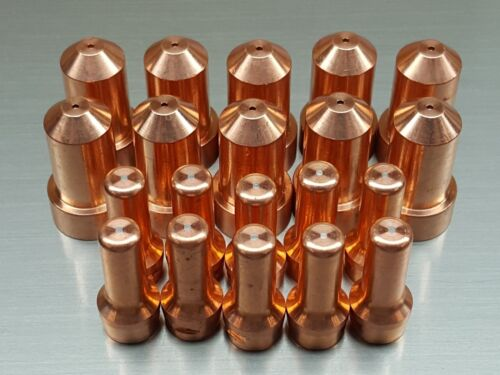 20pc KP2844-3 Nozzles + Electrodes for Lincoln® Tomahawk® 1000 - LC65 Torch