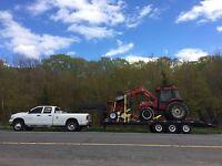 Transport de marchandises, machinerie, tracteur , matériaux