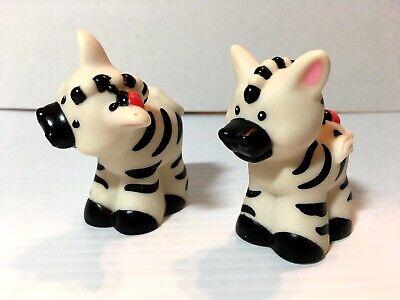 Fisher Price Pair of Zebra Animal Figures for Noah's Ark Set