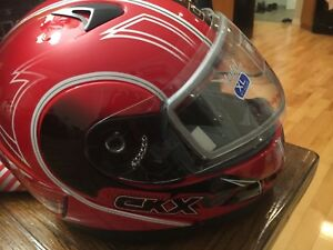 Youth xl snowmobile helmet, brand new ckx model. Red and black